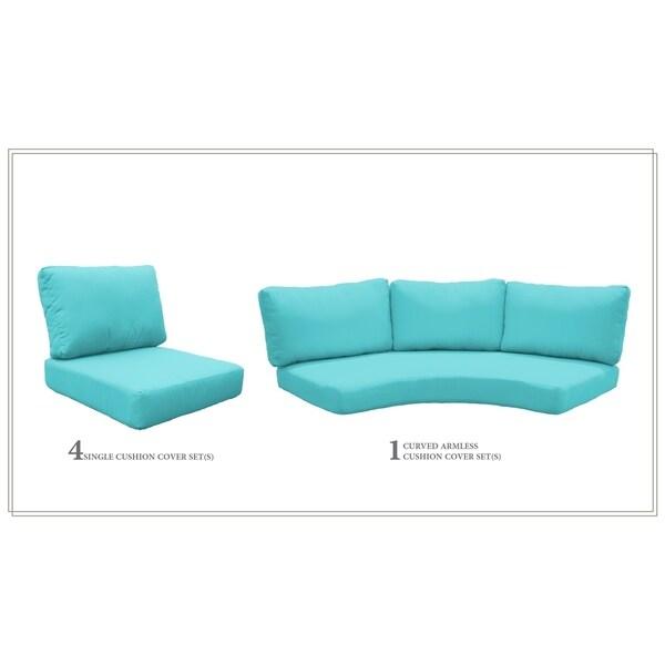 Tk Clics Fairmont 06j Acrylic High Back Patio Cushions Set Of 5