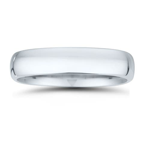 5mm Classic Domed Comfort Fit Wedding Band in 950 Platinum