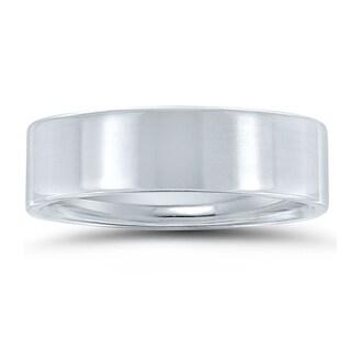 6mm Flat Comfort Fit Wedding Band In 950 Platinum