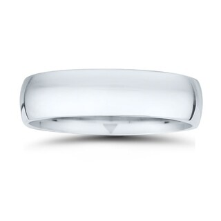 6mm Classic Domed Comfort Fit Wedding Band in 950 Platinum