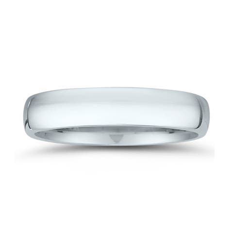 4mm Domed Comfort Fit Wedding Band in 950 Platinum