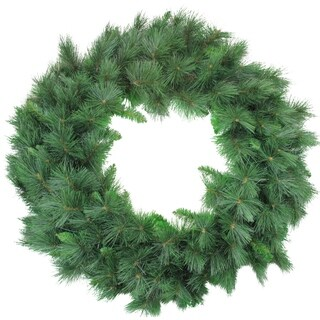 White Valley Pine with Pin Cones Xmas Wreath - 48-Inch Unlit