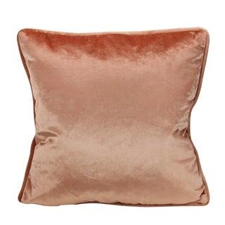 "17"" Perfectly Peach Velvet Square Throw Pillow"