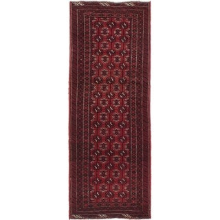 ECARPETGALLERY  Hand-knotted Royal Baluch Dark Red Wool Rug - 2'7 x 6'8