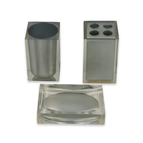 Austin Horn Classics Moderna Silver 3-piece Bath Accessories Set