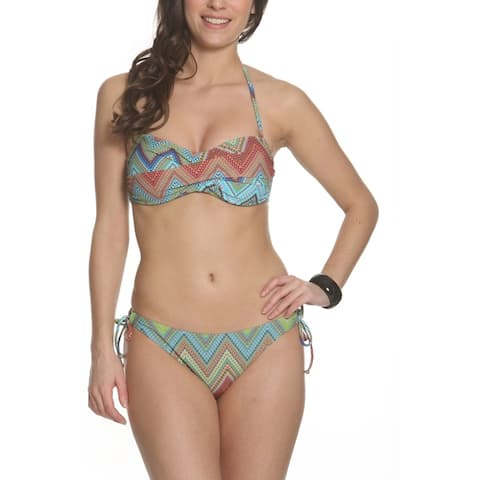 Sun and Sea Solid As A Rock Juniors Bandeau Top with Side Tie Bottom Set