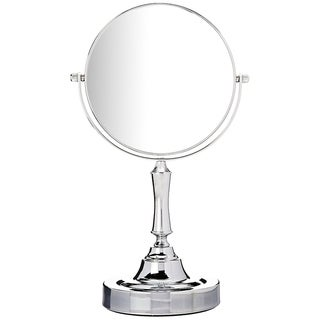 Vanity Mirror, 6-inch Tabletop, Two-Sided Swivel, Chrome - Silver