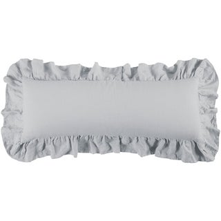HiEnd Accents Luna Ruffled Body Pillow, 14x36 Gray