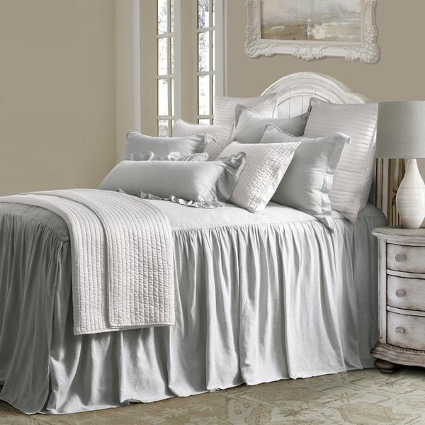 HiEnd Accents 3 Piece Luna Bedspread Set, Queen, Gray