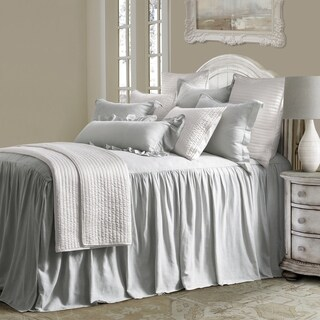 HiEnd Accents 3 Piece Luna Bedspread Set, Queen, Gray