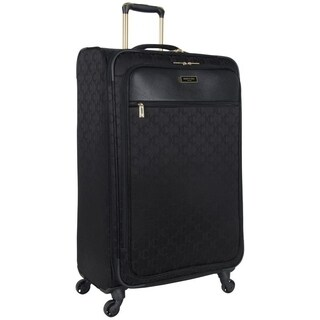 Kenneth Cole 'KC Street' 28in Lightweight Hi-Density Jacquard Softside Expandable 4-Wheel Spinner Checked Suitcase