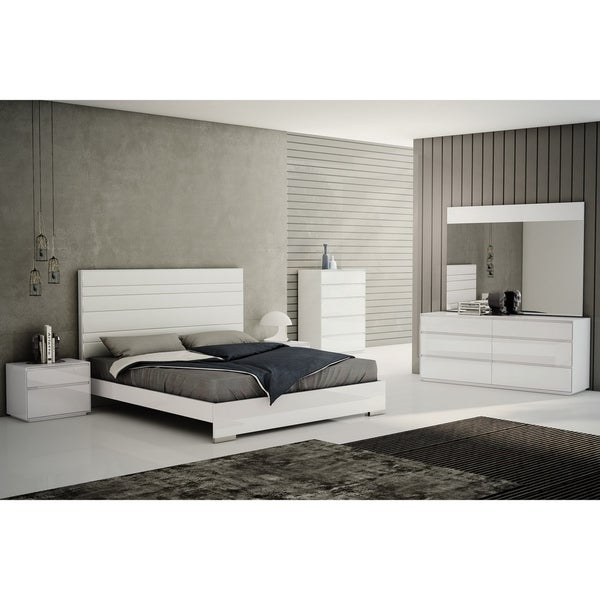 Malibu Faux Leather Upholstered Queen-size Platform Bed