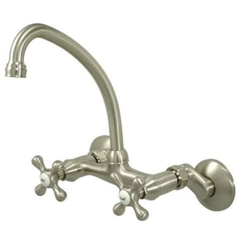 Brushed Nickel Wallmount Kitchen Faucet