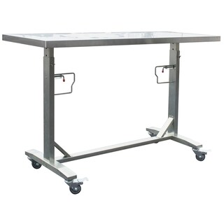Shop Stainless Steel Adjustable Height Work Table W/ Rolling Locking