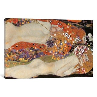 Mermaids by Gustav Klimt Giclee Fine ArtPrint Reproduction on Canvas