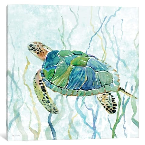 iCanvas ''Sea Turtle Swim II'' by Carol Robinson