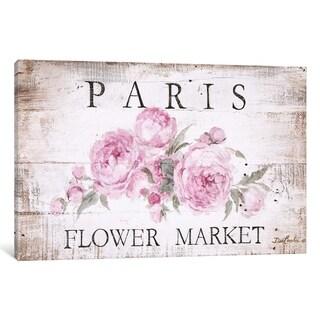 iCanvas ''Paris Flower Market Sign'' by Debi Coules