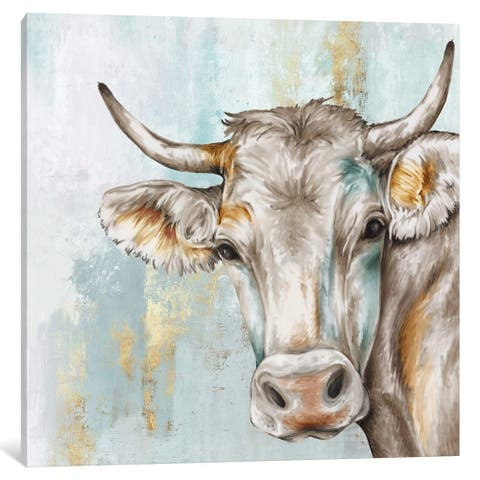 iCanvas ''Headstrong Cow'' by Eva Watts