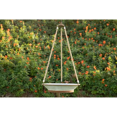 Alpine Metal Tray Bird Feeder, 31 Inch Tall