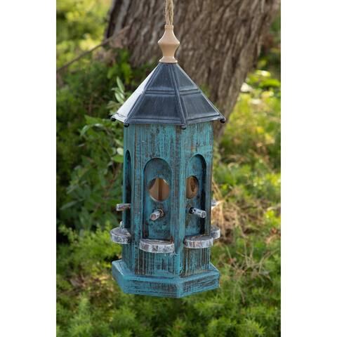 Alpine Blue Artful House, 19 Inch Tall