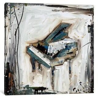 iCanvas ''Imprint Piano'' by Kelsey Hochstatter
