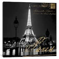 iCanvas ''Paris At Night'' by Kate Carrigan