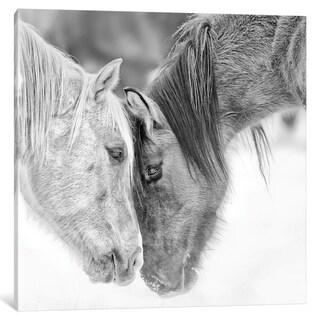 iCanvas ''B&W Horses VII'' by PH Burchett