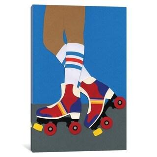 iCanvas ''70s Roller Skate Girl'' by Rosi Feist