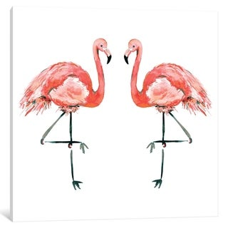 iCanvas ''Flamingos'' by Sara Berrenson