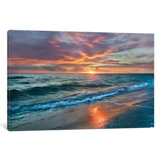 iCanvas ''Sunset, Gulf Islands National Seashore'' by Tim Fitzharris