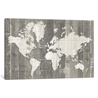 iCanvas ''Old World Map'' by Wild Apple Portfolio