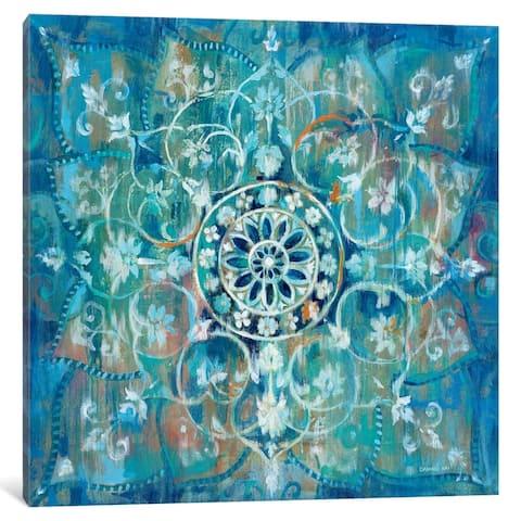 iCanvas ''Mandala in Blue I'' by Danhui Nai