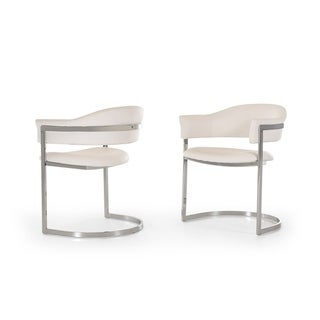 Modrest Allie Contemporary White Leatherette Dining Chair