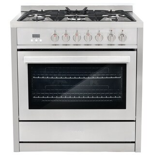 Cosmo F965NF 36 in. 3.8 cu. ft. Single Oven Dual Fuel Range