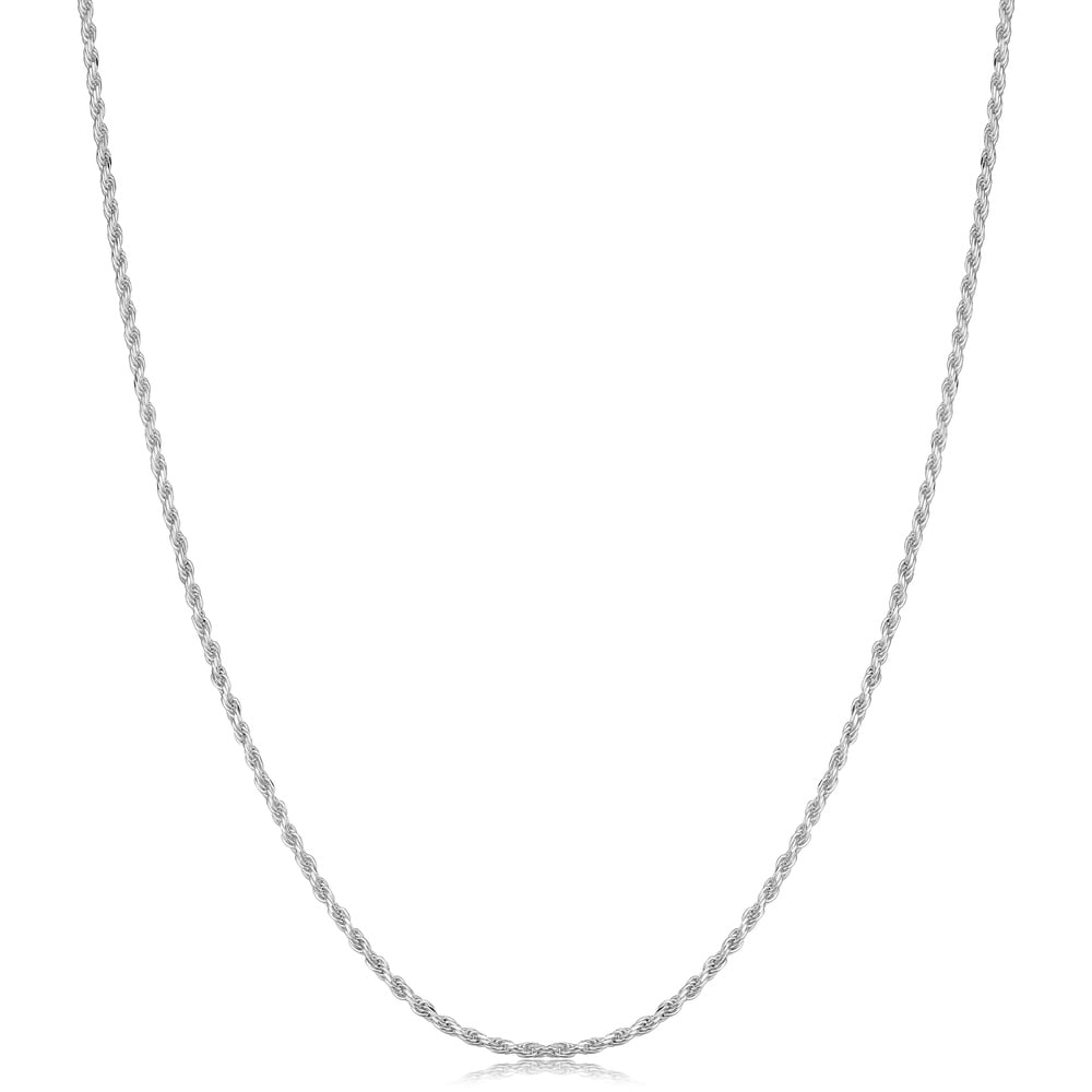 West Coast Jewelry Sterling Silver 2mm 8 Side Diamond Cut Cable Chain