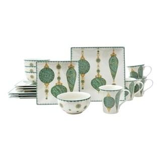 Constantina Turq 16 Piece Dinnerware Set