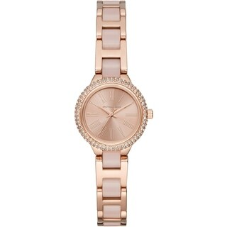 Michael Kors Women's MK6582 Petite Taryn Rose Gold-Tone Stainless Steel with Blush Acetate Watch