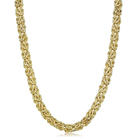 10k Yellow Gold 6 millimeter Byzantine Necklace (18 inches)