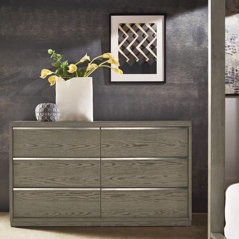 Copper Grove Kelcyre Antique Grey Oak Veneer Dresser