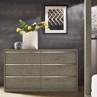 Copper Grove Kelcyre Antique Grey Oak Veneer Dresser