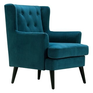 ELLE Decor Celeste Tufted Velvet Accent Chair