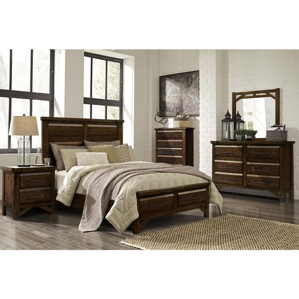Tacoma Rustic 4PC Bedroom Set by Greyson Living