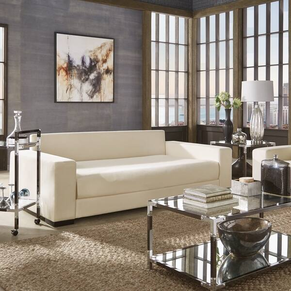 Admirable Shop Lionel Modern White Cotton Fabric Sofa Daybed By Alphanode Cool Chair Designs And Ideas Alphanodeonline