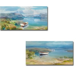 Morning Drift I & II by Cuiji 2-piece Gallery Wrapped Canvas Giclee Art Set (Ready to Hang)