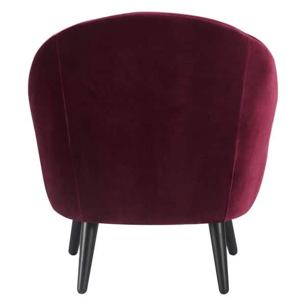 Brilliant Shop Elle Decor Nico Mid Century Modern Velvet Accent Chair Machost Co Dining Chair Design Ideas Machostcouk