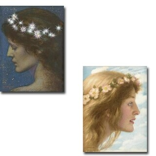Night & Day by Edward Robert Hughes 2-piece Gallery Wrapped Canvas Giclee Art Set (Ready to Hang)