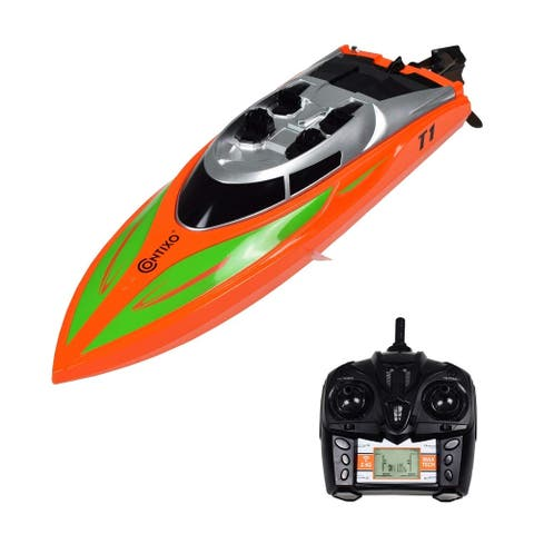 Contixo T1 RC Remote Control Fast Racing 20+ MPH RC Speedboat Capsize Recovery For Pools and Lakes
