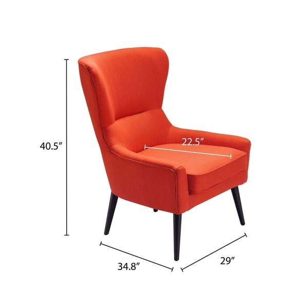 Elle Decor Modern Wingback Chair