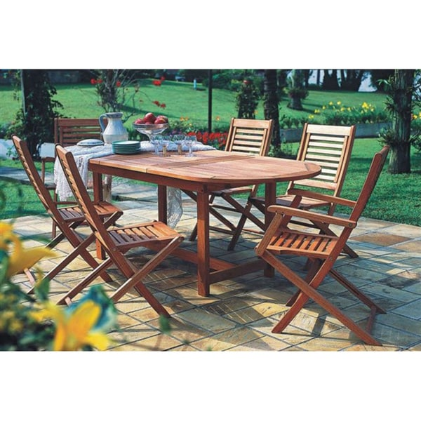Amazonia Extendable 7-piece Patio Dining Set - Amazonia Extendable 7-piece Patio Dining Set - Free Shipping Today
