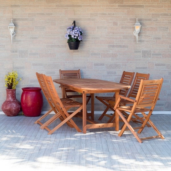 Outdoor Patio Furniture Sale Amazon: Shop Amazonia Extendable 7-piece Patio Dining Set